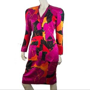 Vintage Pia Rucci Bright Blazer w/ Halter Dress